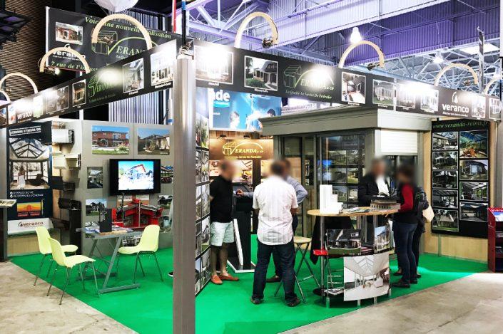 stand salon foire expo veranda & co veranco signalétique communication publicité