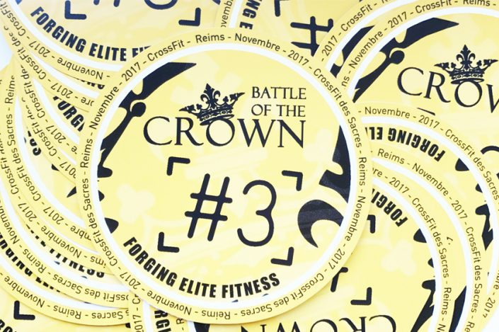 Impression de stickers pour CrossFit des Sacres