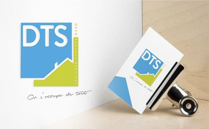 Conception graphique design identité visuelle pour DTS