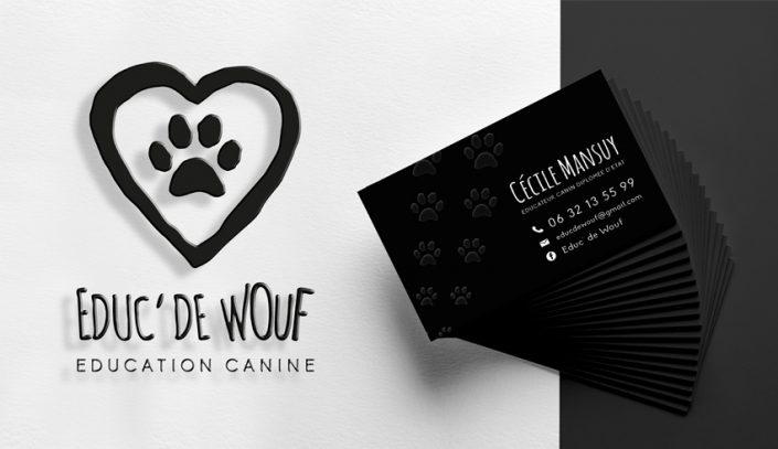 Conception graphique design et identité visuelle Educ'de Wouf