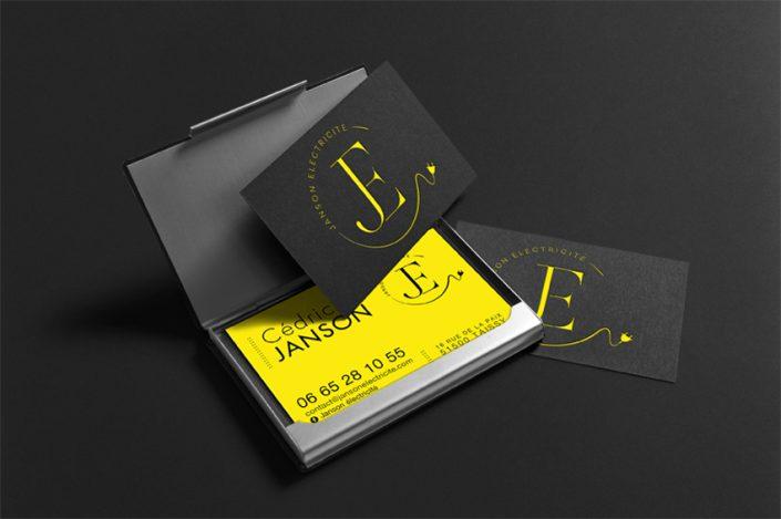 Conception graphique et design de l'identité visuelle pour Janson électricité