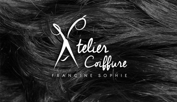 Conception graphique design identité visuelle pour Atelier Coiffure Francine Sophie
