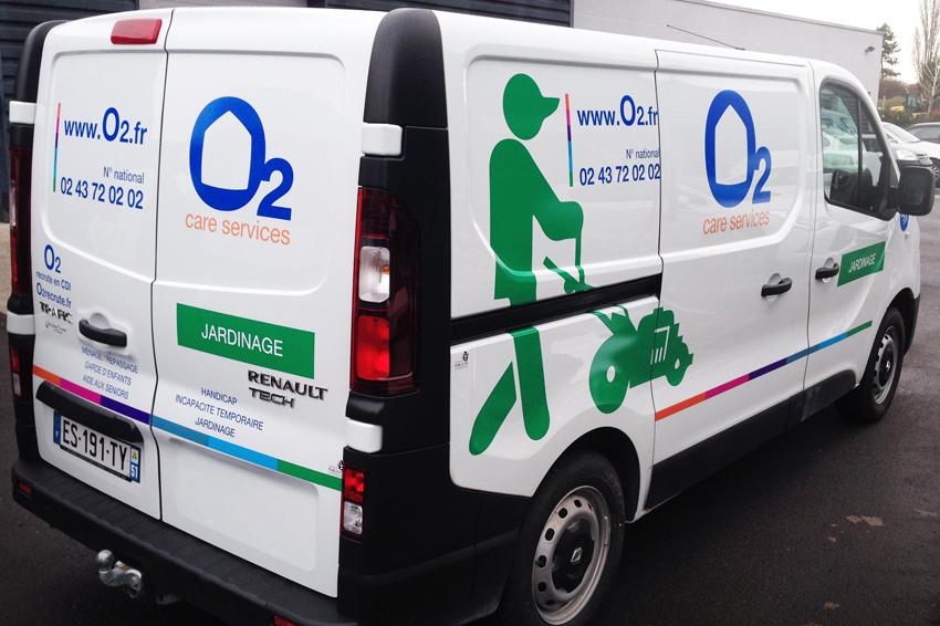Marquage utilitaire o2 reims publicit for Garage utilitaire reims