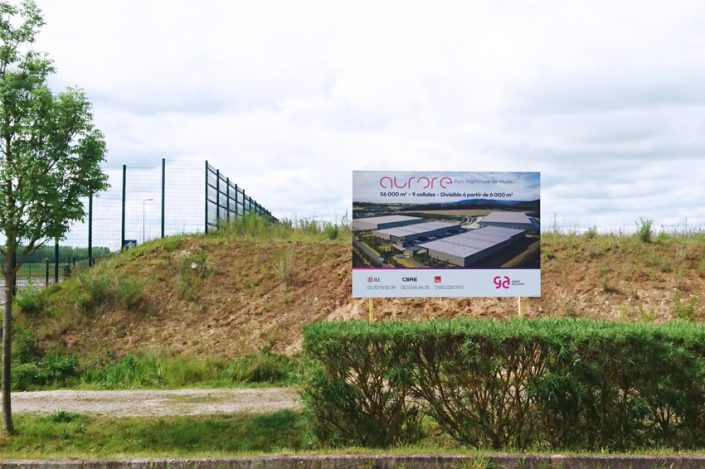 Signalétique panneau de chantier communication immobilier réalisation