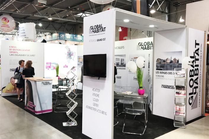 stand global habitat communication signalétique salon foire expo