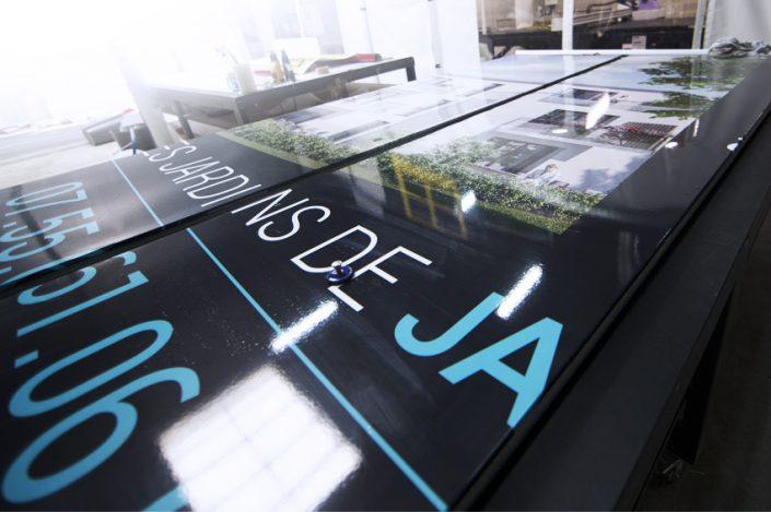 atelier fabrication panneau 4x3 m panneau publicité signalétique communication visiocom