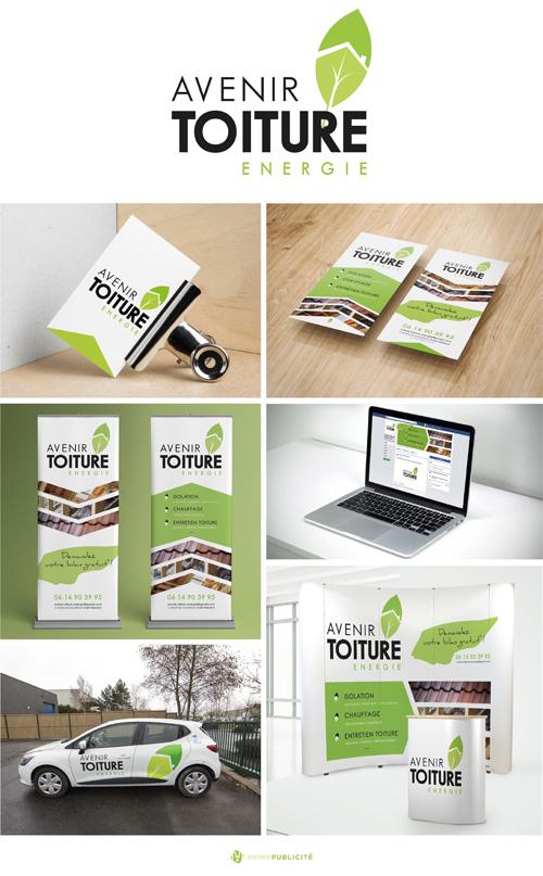 Conception Graphique Avenir Toiture Energie Identit Visuelle Logo Cartes De Visite Plaquette Publicitaire Web Graphisme Roll