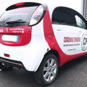 marquage véhicule voiture adhésif covering partiel cf sport communication publicité