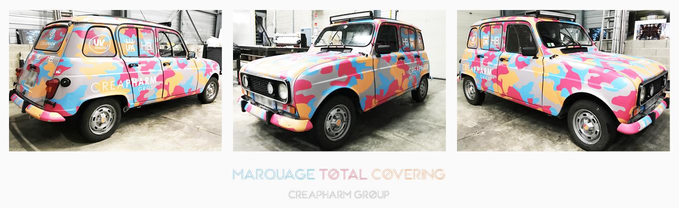 marquage véhicule total covering creapharm group adhésifs communication publicité