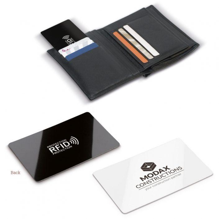 Objet publicitaire carte anti-RFID