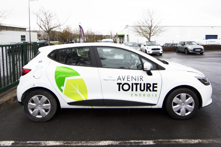 marquage véhicule voiture covering avenir toiture energie communication