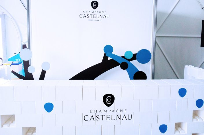 bar comptoir displays champagne castelnau bâche signalétique communication