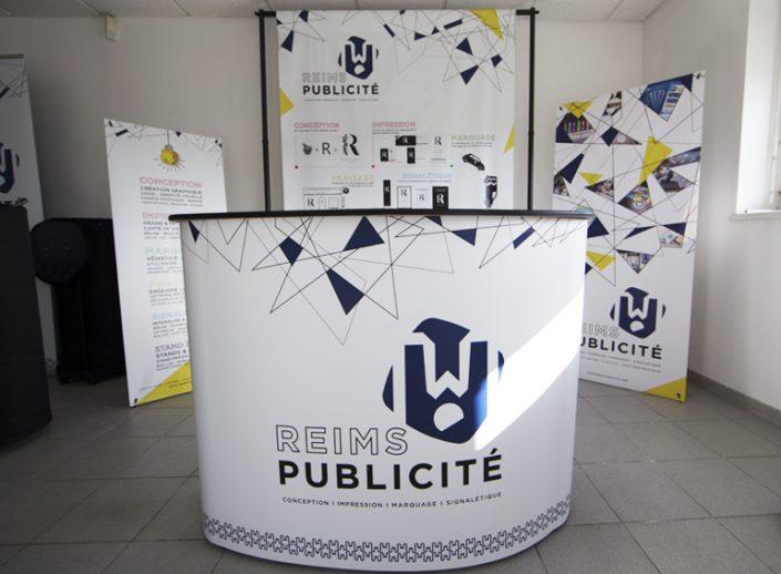 comptoir stand salon expo foire reims publicité signalétique display communication