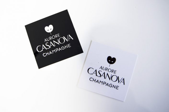 cartes de visite champagne aurore casanova impression communication