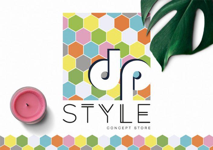 identité visuelle logo mockup DP style conception graphique communication