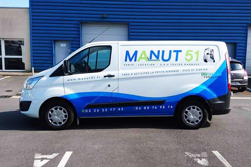 marquage utilitaire fourgon communication manut51 covering