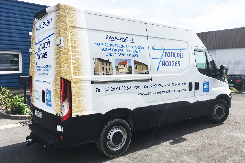 Marquage utilitaire covering fran ois fa ades reims for Garage utilitaire reims
