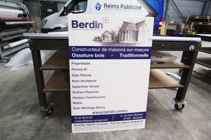 permis de construire berdin panneaux communication signalétique