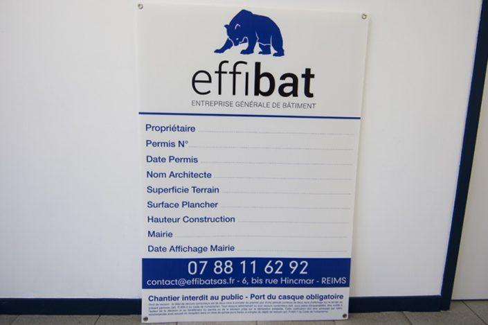 permis de construire effibat affichage communication panneau