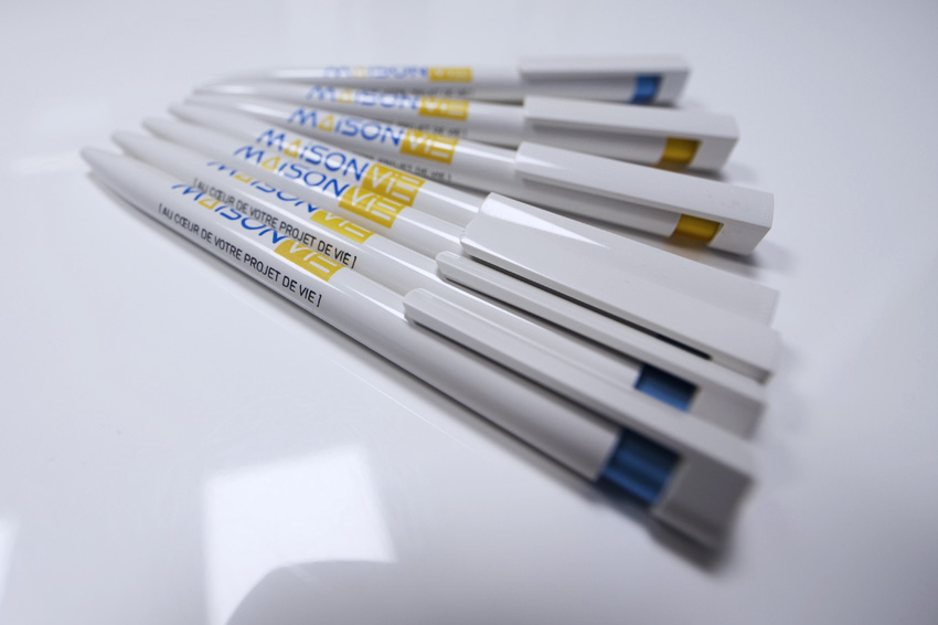 objets publicitairs goodies stylos impression maison vie communication publicité