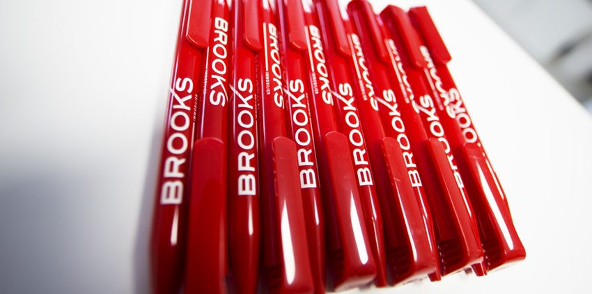 objets publicitaires goodies stylos Brooks immobilier impression communication