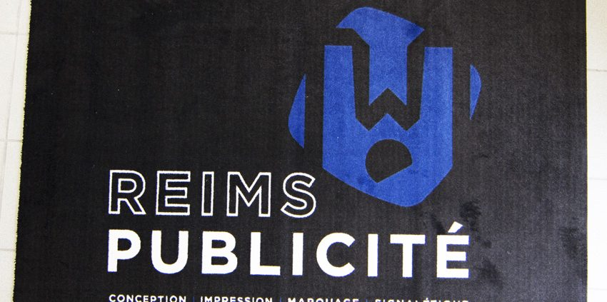 tapis reims publicité objet publicitaire goodies accueil communication signalétique