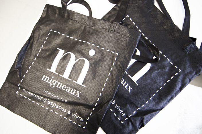 tote bag sac migneaux immobilier événement salons impression objet publicitaire goodies
