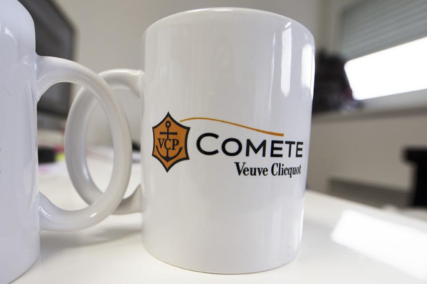 mugs objets publicitaires veuve clicquot ponsardin champagne communication impression