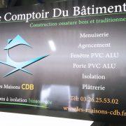enseigne panneau dibond comptoir du bâtiment signalétique communication publicité