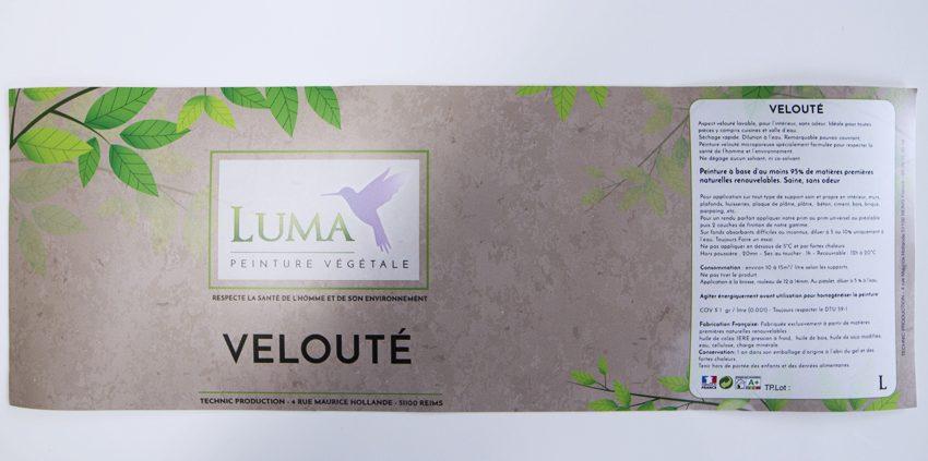 etiquette autocollant luma technic production peinture végétale impression communication