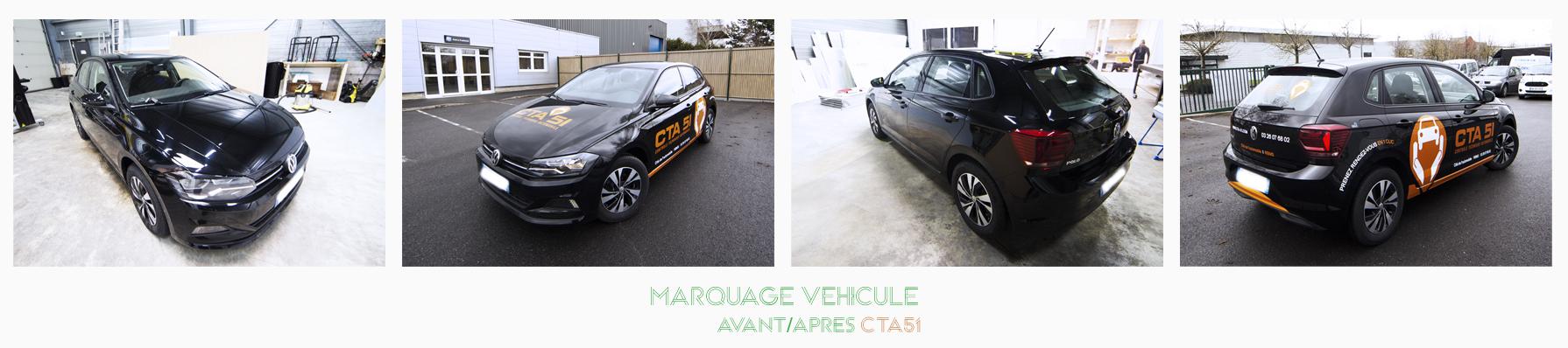 marquage véhicule voiture CTA51 adhésifs communication publicité