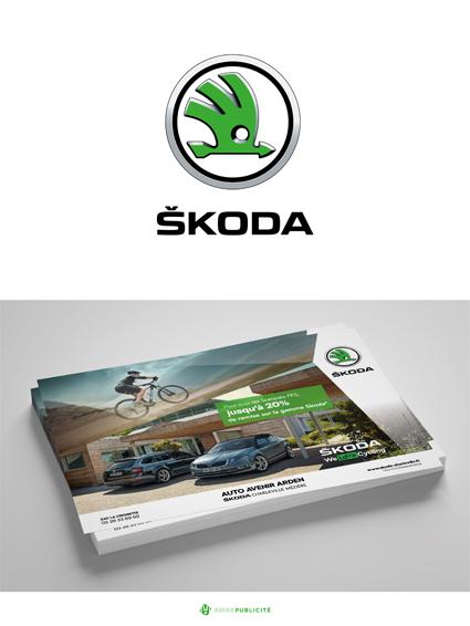 conception graphique mock up skoda flyers communication publicité impression