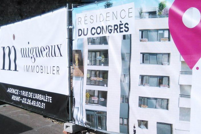 bâche tissu migneaux immobilier bâche tissu communication publicité