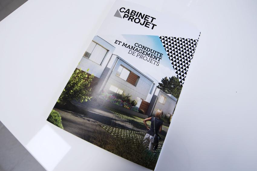 dépliant plaquette publicitaire cabinet projet global habitat impression communication publicité