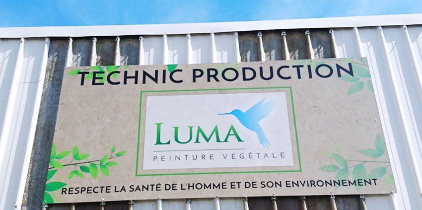 enseigne panneau technic production luma communication publicité signalétique