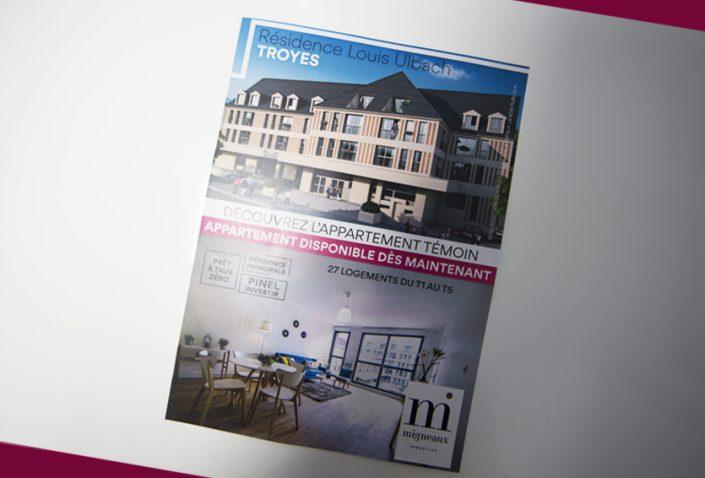 flyers migneaux immobilier immo impression communication publicité