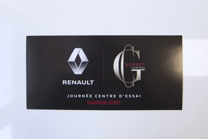 flyers renault champagne gosset invitation communication impression publicité