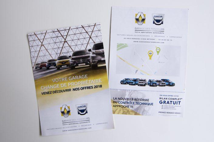 flyers garage des tondeurs impression communication publicité
