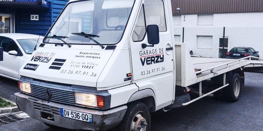 Marquage v hicule de d pannage garage de verzy reims for Garage utilitaire reims