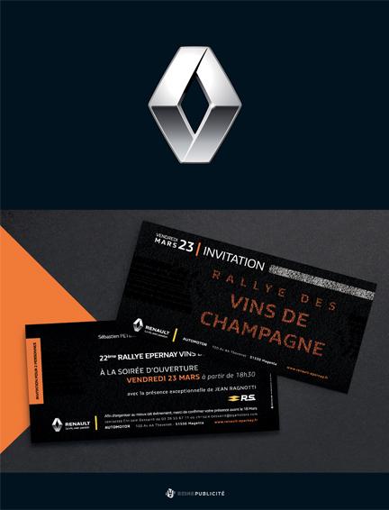 conception graphique flyers renault automobile communication publicité
