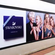 adhésifs signalétique swarovsky communication publicité