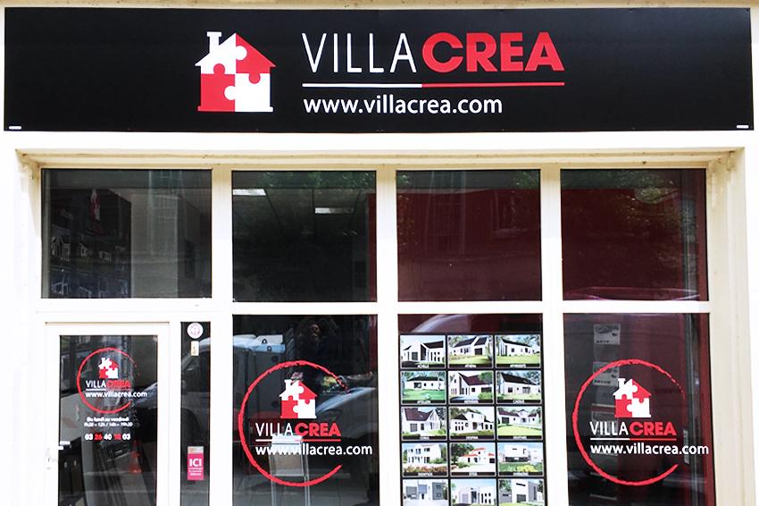 enseigne dibond villa créa signalétique communication publicité