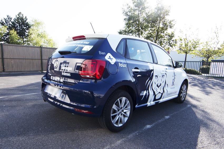marquage véhicule convering voiture semi covering partiel AFR financement adhésifs communication publicité