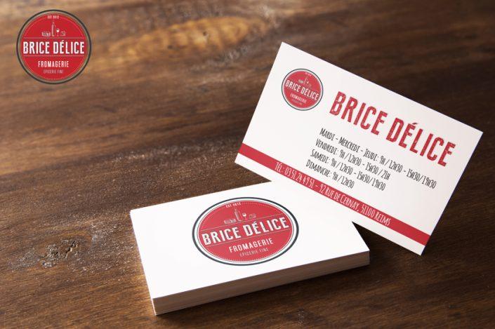 identité visuelle création conception graphique logo brice delice fromagerie reims communication publicité