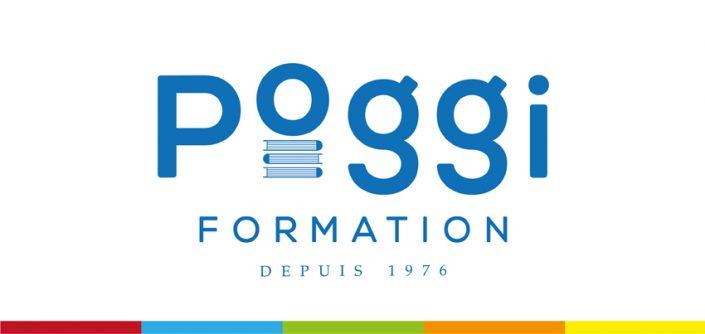 conception graphique refonte logo charte graphique identité visuelle poggi formation design communication publicité