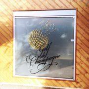 marquage adhésif golf de champagne signalétique communication reims publicité