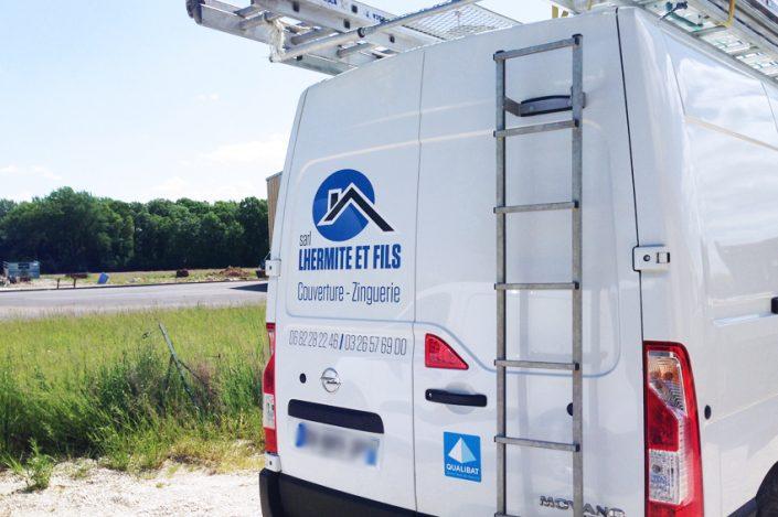 marquage véhicule utilitaire adhésifs lhermite et fils communication publicité