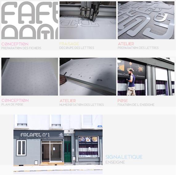 étapes construction enseigne détails communication publicité