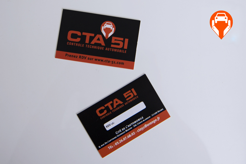 cartes de visite impression cta 51 communication publicité
