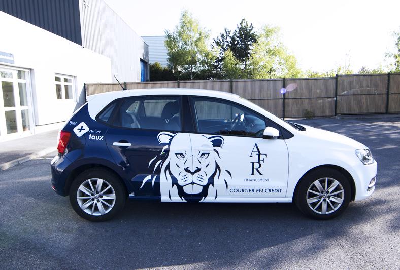 marquage véhicule adhésifs covering afr financement courtier reims communication publicité